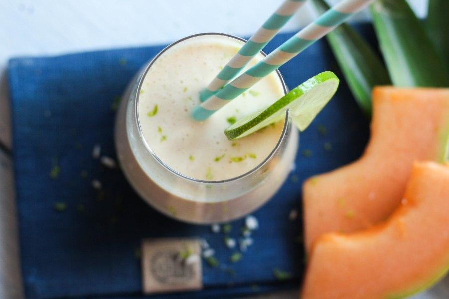 Yoghurtdrikke med kokossmak